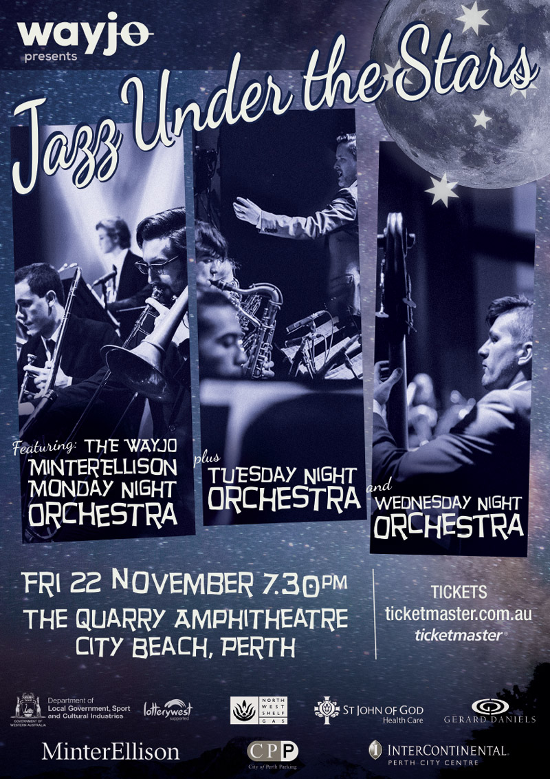 Jazz Under the Stars - The Quarry Amphitheatre, Fri 22 Nov 2019