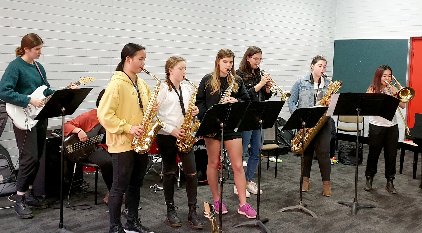 Young Women in Jazz participants 2019