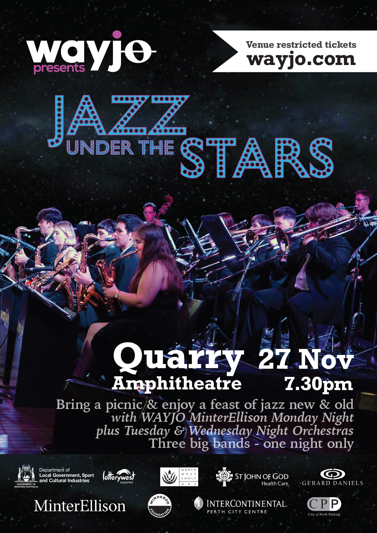 WAYJO presents Jazz Under the Stars 2020 - Fri 27 Nov, 2020
